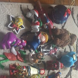 Children's characters Christmas ornaments